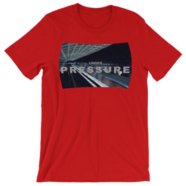Under-Pressure-Photomusicology-Carla-Durham-unisex-t-shirt-red
