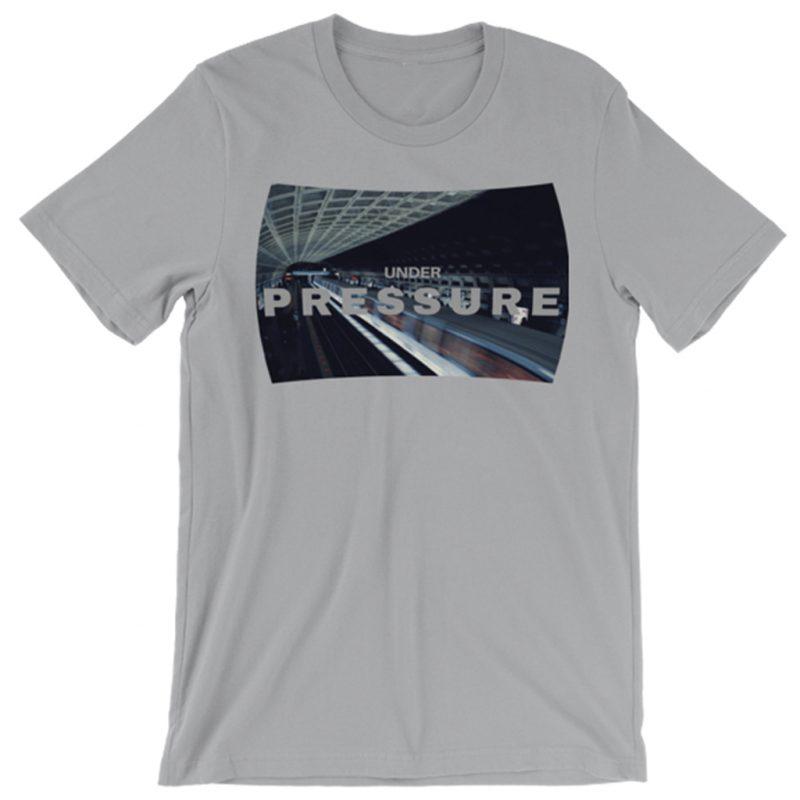 Under-Pressure-Photomusicology-Carla-Durham-unisex-t-shirt-silver